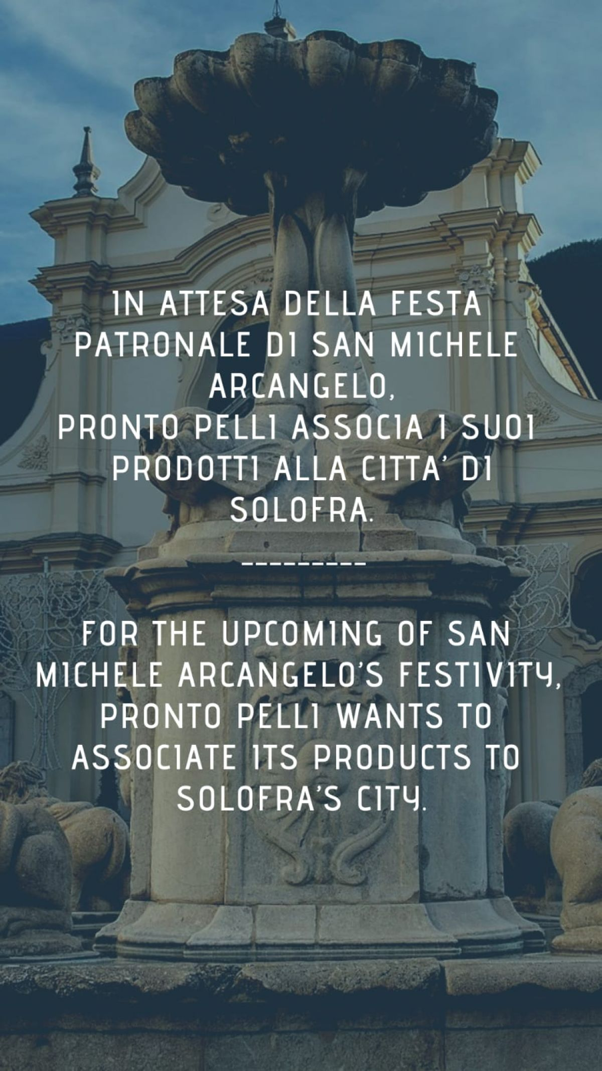 Pronto Pelli wants to honor our city