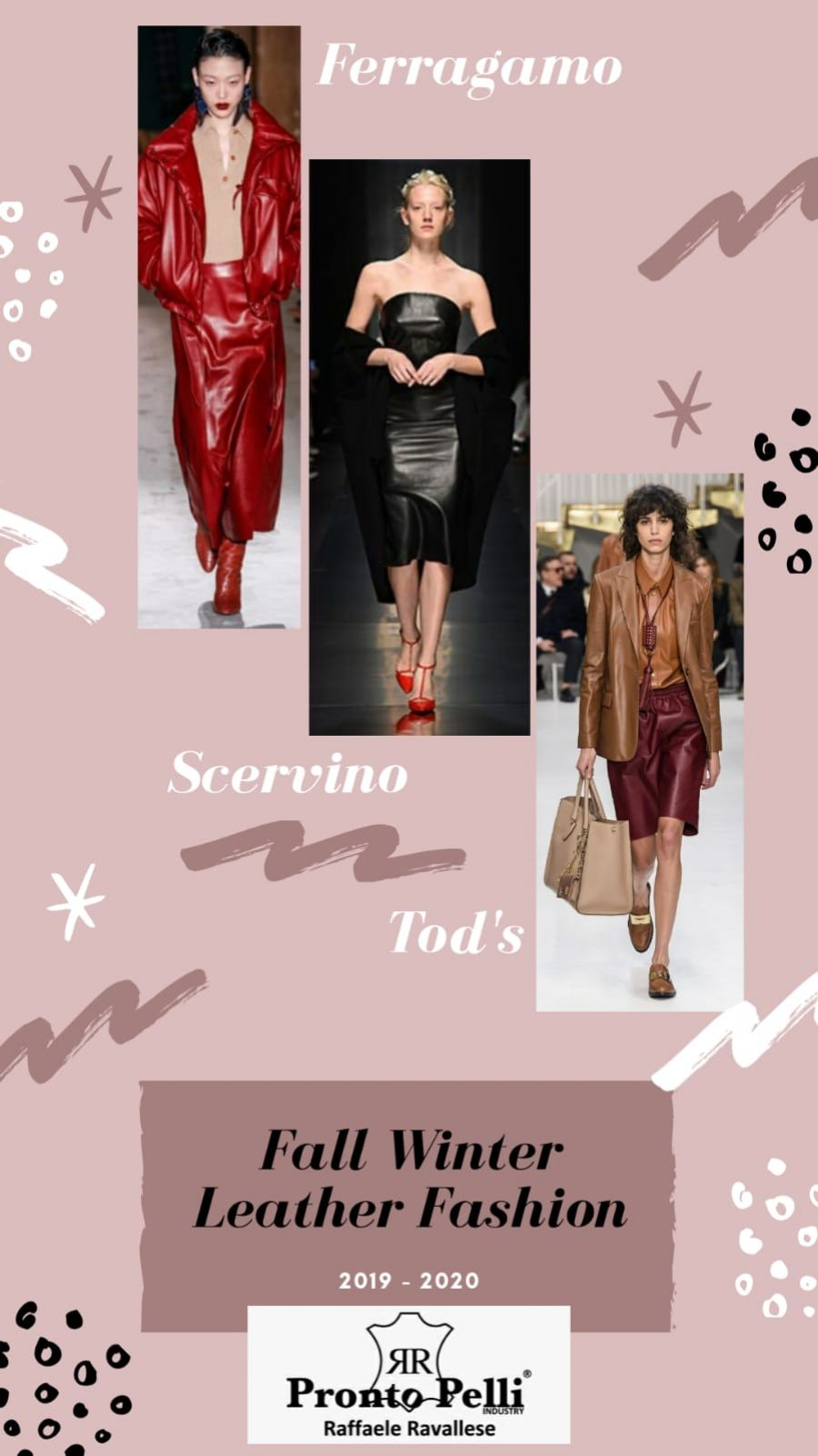 The fall winter fashion 19-20  is total leather